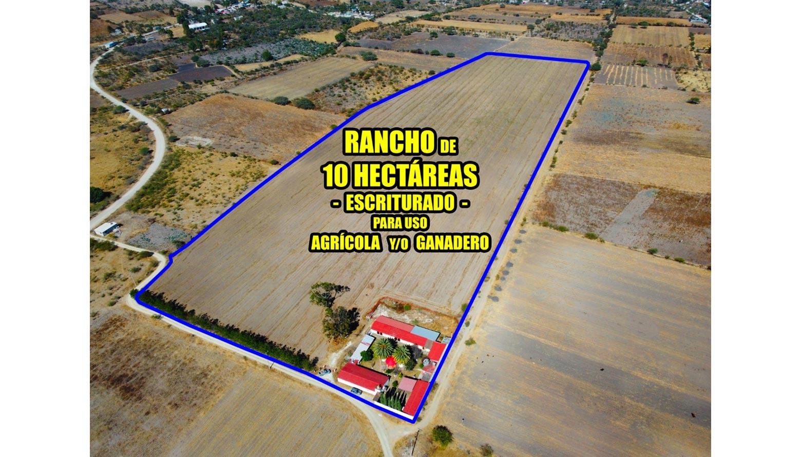 Rancho de 10 Hectáreas en Hidalgo - Escriturado